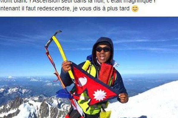 Dans la nuit de smaedi à dimanche l'ultra-traileur bisontin Sange Sherpa s'est lancé dans l'ascension solitaire du Mont Blanc.
