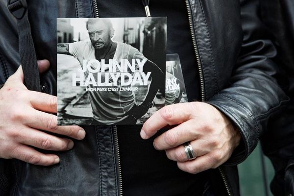 L'album posthume de Johnny Hallyday présenté le 15 octobre 2018 à Paris.