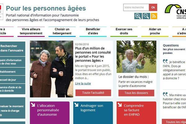 Plus d'un million de visiteurs pour le site d'information pour personnes âgées