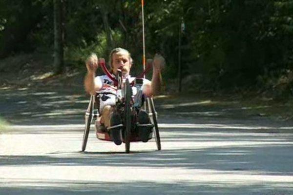 Laurent Bardin va prendre le départ en fauteuil, dans les mêmes conditions que les valides.