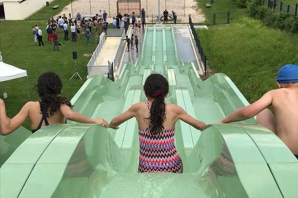 Le pentaglisse, inauguré en juin, à la piscine de Hautepierre est le premier équipement du genre dans l'Eurométropole de Strasbourg.