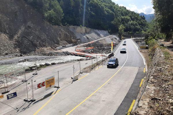 Le nouveau pont de Pertus à Breil-sur-Roya (Alpes-Maritimes), inauguré le 17 septembre 2021.