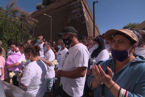 Marche blanche à Perpignan ce lundi 3 août 2020 en hommage au jeune homme tué le 24 juillet dernier lors d'une rixe