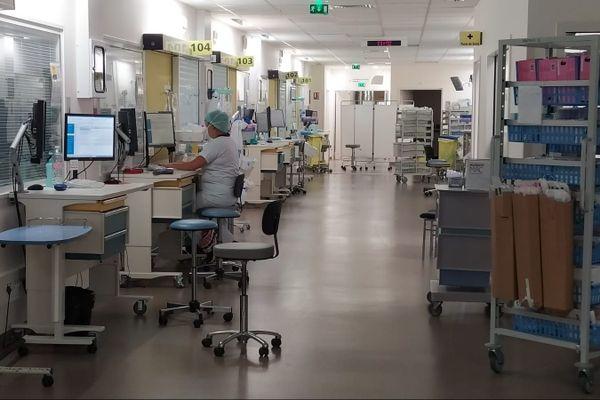Service réanimation de l'hôpital Purpan à Toulouse