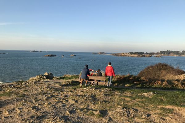 La vue sur l'archipel des Ebihens