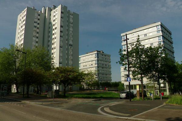 27 avril 2020- Le quartier des Hauts de Rouen au lendemain d'affrontements avec la police