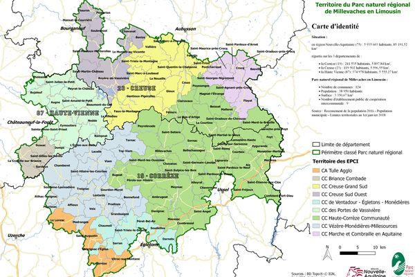 Le projet citoyen voudrait toucher l'ensemble des communes du Parc Naturel Régional Millevaches qui en rassemble 124.