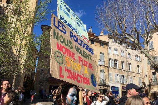 Marche pour sauver le climat à Aix-en-Provence, vendredi 15 mars 2019.