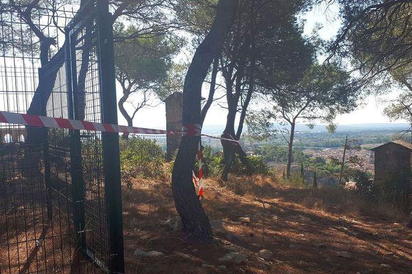 Beaucaire (Gard) - Les corps des 2 enfants de 6 et 7 ans ont été retrouvés vers la montée du Calvaire, le 3 août à 22h - 2019.