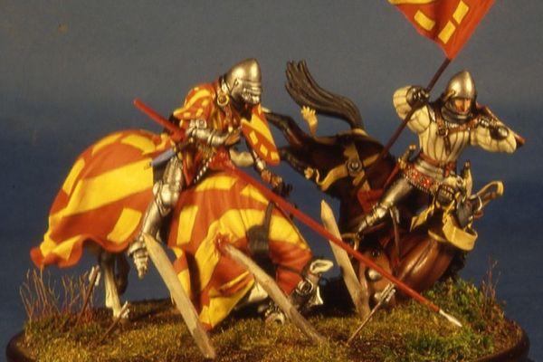 Guillaume de Saveuse et son escorte s'échouant sur les lignes anglaises.
