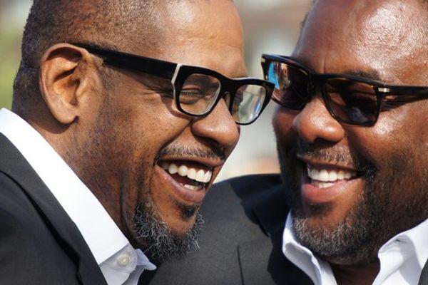 Le comédien Forest Whitaker et son réalisateur Lee Daniels complices sur le tapis rouge de Deauville
