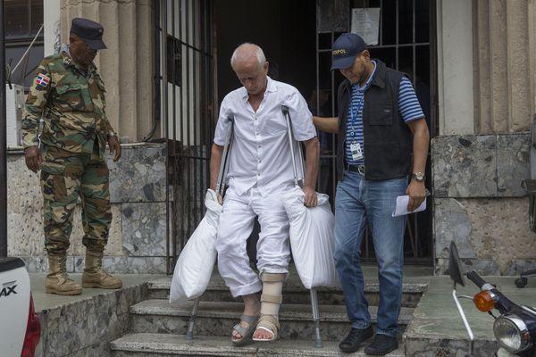 Alain Castany blessé à la jambe