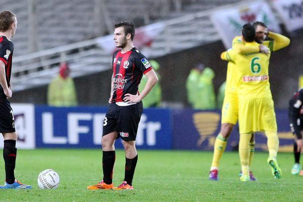 Quart de Finale de Coupe de la Ligue - Stade de la Beaujoire - Le FC Nantes accueillait l'OGC Nice - Score finale 4 a 3 pour Nantes.