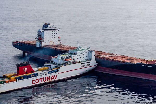 08/10/2018 - Collision entre deux navires au large du cap Corse.