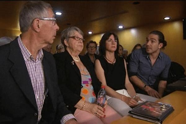 Les parents et la soeur et le frère de Sylvain Jouanneau ce jeudi aux assises du Calvados