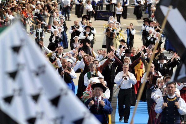 La grande parade en 2014, pendant le Festival Interceltique de Lorient