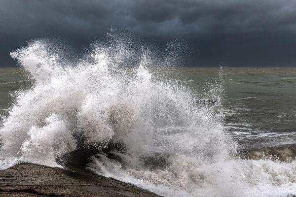 Une tempête à Noirmoutier, en Vendée.