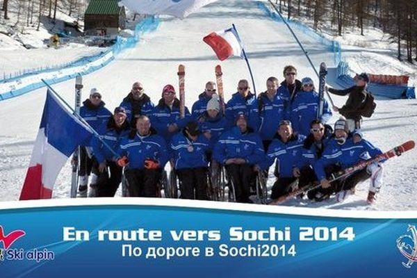 L'équipe de France handisport de ski