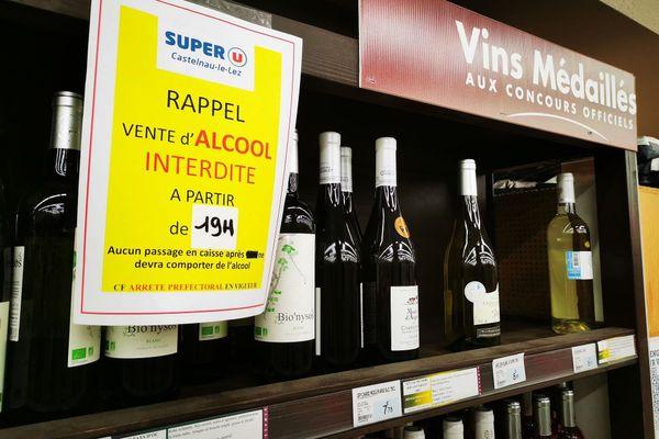 Impossible désormais pour les Héraultais de s'approvisionner en vins et autres alcools après 19h.