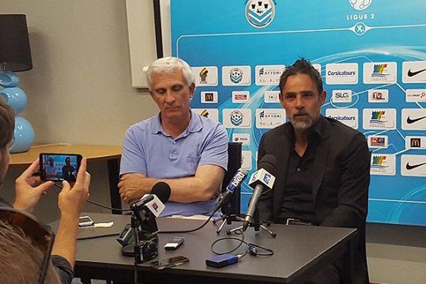 Le torchon brûle entre Marco Simone (à droite) et Jean-Marc Ettori