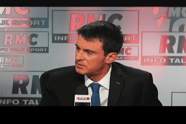 Le Premier Ministre Manuel Valls ce mardi matin sur RMC