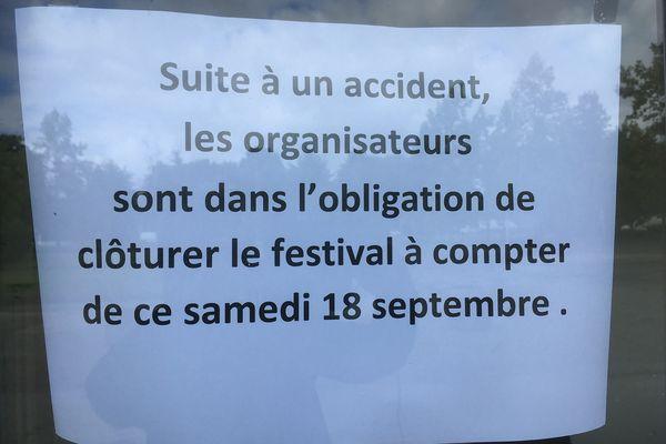 La manifestation qui devait se tenir jusqu'à dimanche a été annulée