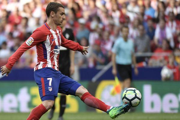 Antoine Griezmann portait le maillot de l'Atlético Madrid depuis 2014