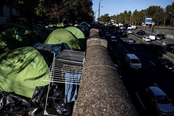 Les tentes du campement de la Porte d'Aubervilliers, en octobre 2019 (illustration).