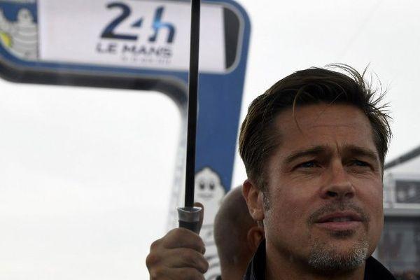 Brad Pitt, au départ des 24H du Mans