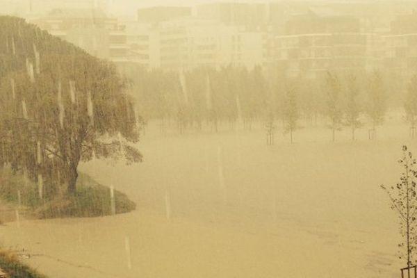 Inondations à Montpellier bassin Jacques Coeur Montpellier inondations 29 septembre 2014
