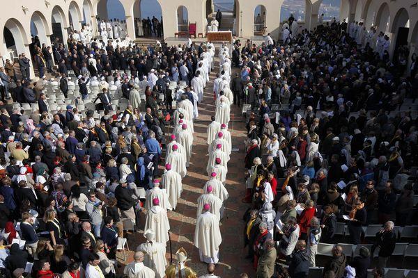 Cérémonie de béatification des 19 martyrs d'Algérie, le 8 décembre 2018, à Oran