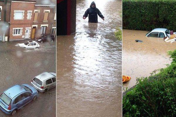 Inondations dans le Nord et le Pas-de-Calais.