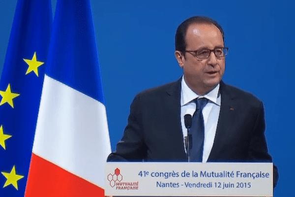 François Hollande à la Mutualité Française