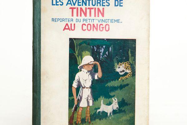 édition rarrissime de Tintin au Congo, datant de 1931
