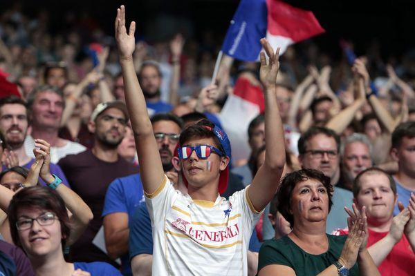 Les Bleus pouvaient compter sur leurs quelques 10 000 supporters.