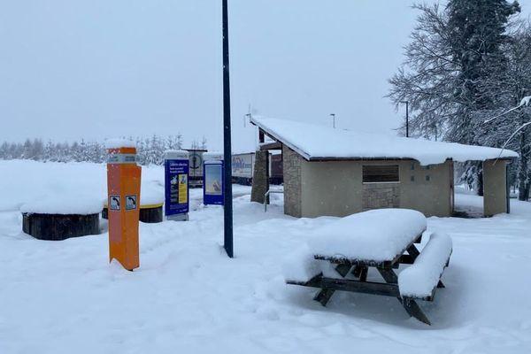 L'A89 ce jeudi matin sous la neige en Corrèze