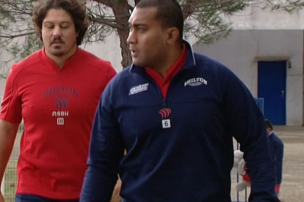 Les joueurs de Béziers à l'entraînement - 15 décembre 2016