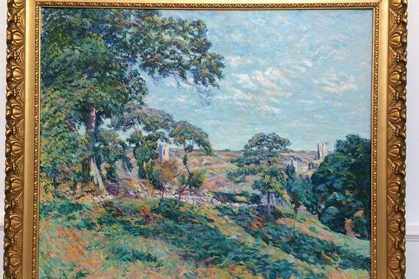 """""""Vue de Crozant"""" peint par Eugène Alluaud en 1922 sera exposé à Rueil-Malmaison"""