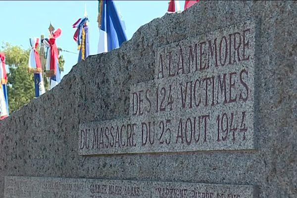 124 personnes ont été assassinées par les Nazis le 25 août 1944.