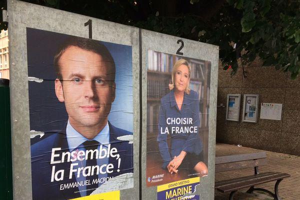 Les affiches du 2ème tour de la Présidentielle 2017.