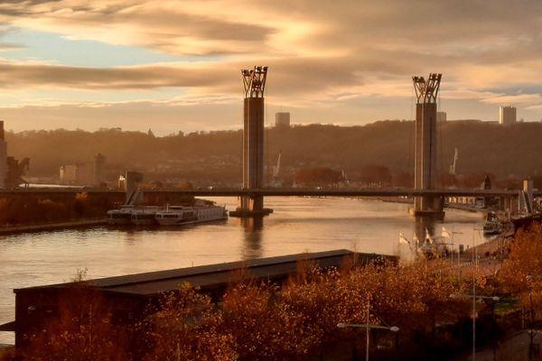 A Rouen, le pont Flaubert.
