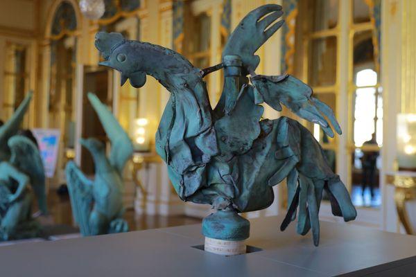 Le coq exposé lors des Journées européennes du patrimoine au Ministère de la Culture es 21 et 22 septembre 2019.