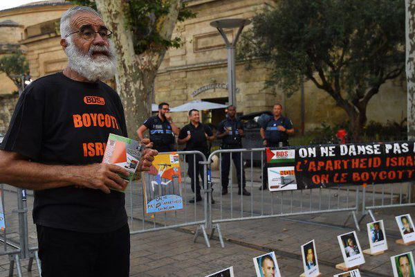 Manifestation du BDS devant l'Agora de Montpellier jeudi 28 juin 2018