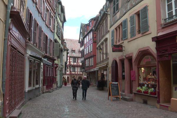 Dans les rues du centre ville de Colmar