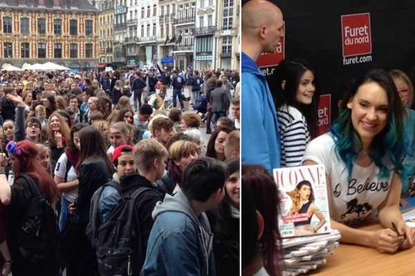 La foule pour Natoo ce samedi à Lille.