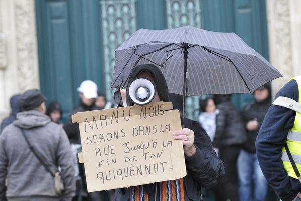 Manifestation des Gilets jaunes à Montpellier le 1er février 2020.
