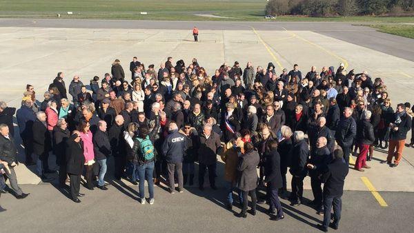 Les élus et les chefs d'entreprises s'étaient déjà mobilisés pour l'aéroport de Lorient en février 2018
