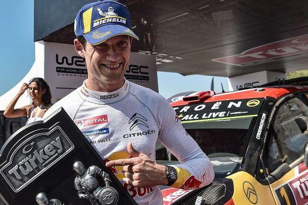 Sébastien Ogier lors de sa victoire au rallye de Turquie.