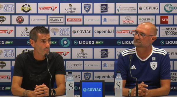 Cyril Jeunechamp et Frédéric Zago lors de la conférence de presse d'avant-match.
