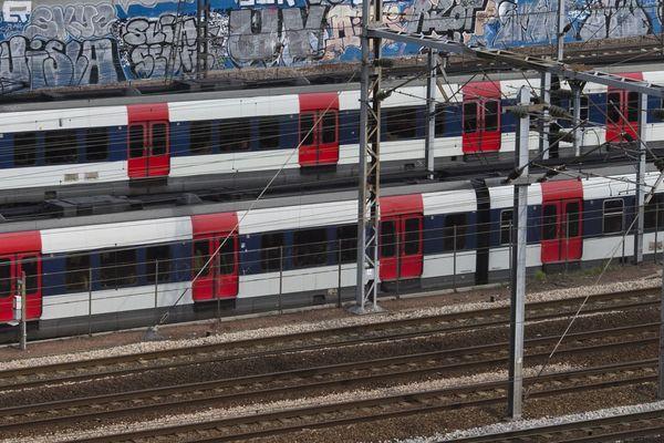 Des trains du RER (illustration).